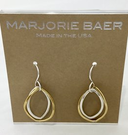 GOLD AND SILVER OPEN HOOPS