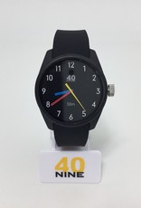 PRIMARY BLACKCASE, BLACK DIAL,BLACK RUBBER STRAP WITH BALCK KEEPER,BLACK BUCKLE