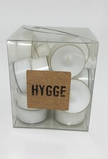 CLEAR TEALIGHTS BAG OF 18