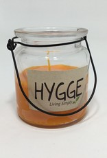 ORANGE GLASS LANTERN CANDLE