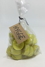 YELLOW TEALIGHTS SET OF 18