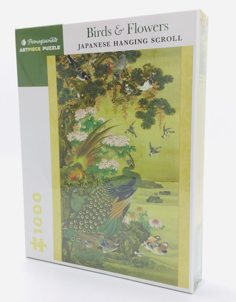 BIRDS & FLOWERS JAPANESE HANGING SCROLL 1000 PIECE