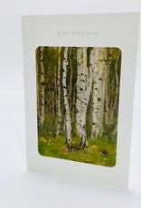 CNC 37090 BIRCH TREE SYMPATHY CARD