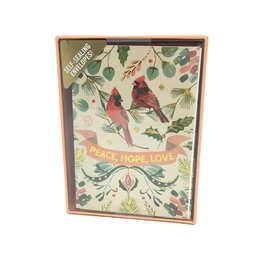 FESTIVE CARDINALS BOXED XMAS CARDS