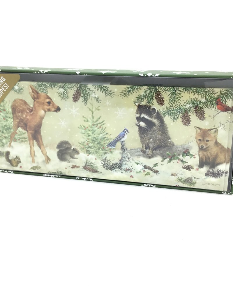 Panoramic Holiday Cards: Winter Forest Friends