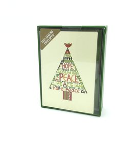 Small Holiday Cards: Peace Hope Tree