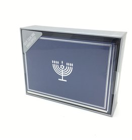 SILVER MENORAH HOLIDAY CARDS