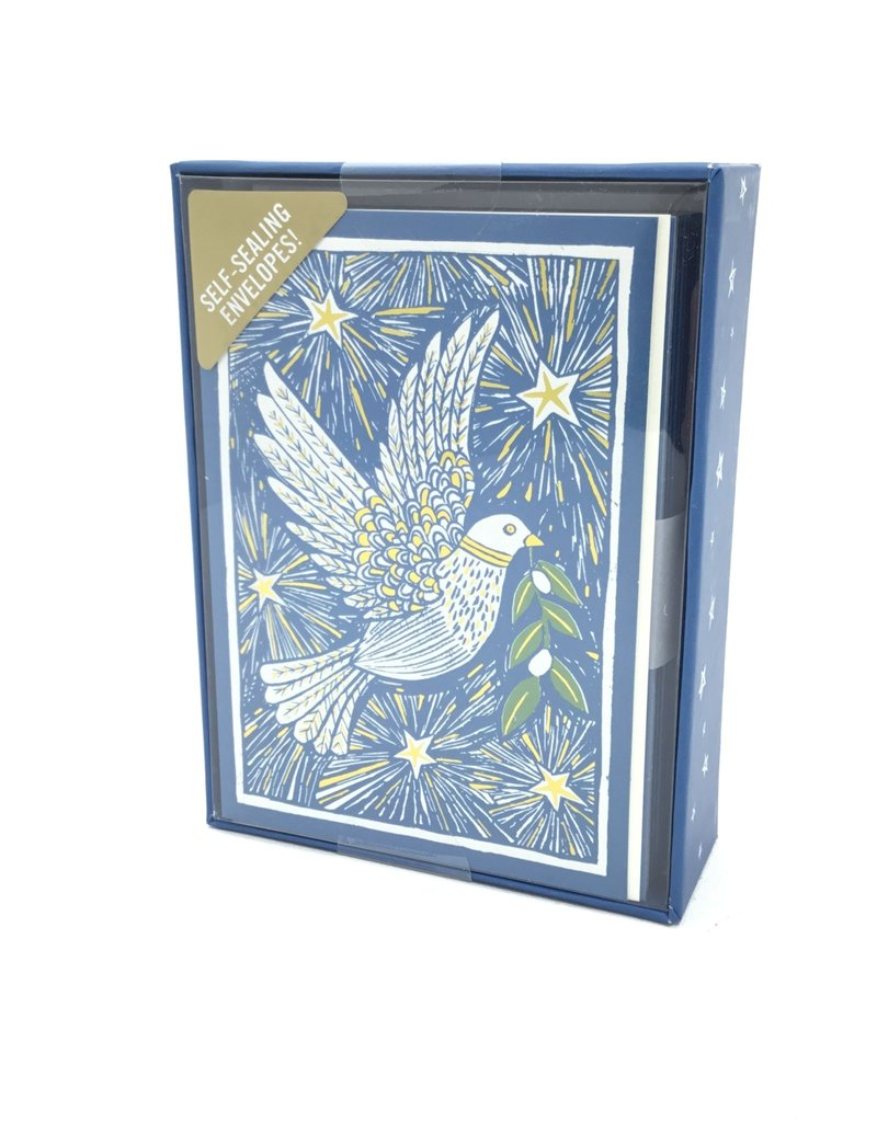 WOODCUT DOVE BOXED CARDS