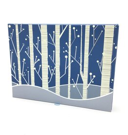 Deluxe Holiday Cards: White Birches