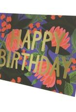 FLORAL FOIL BIRTHDAY CC