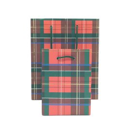 SMALL PLAID GIFT BAG