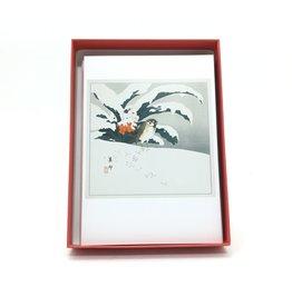 TAKAHASHI BIHŌ BIRD IN SNOW HOLIDAY CARDS