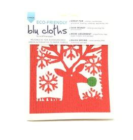 SCANDI HOLIDAY BLU CLOTH SET 2