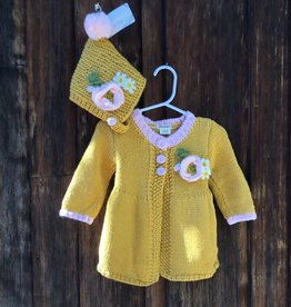 HUGGALUGS GOLD POPPY SWEATER 6-12 MONTHS