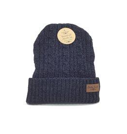 BLACK PLUSH LINED HAT