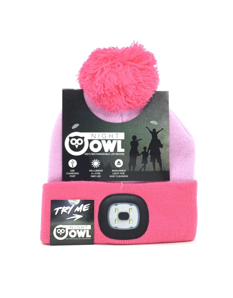 PINK KIDS RECHARGEABLE BEANIE