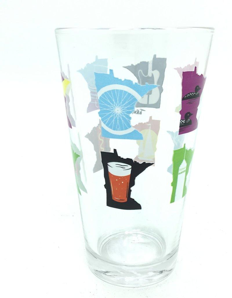 ADAM TURMAN MN MONTH PINT GLASS