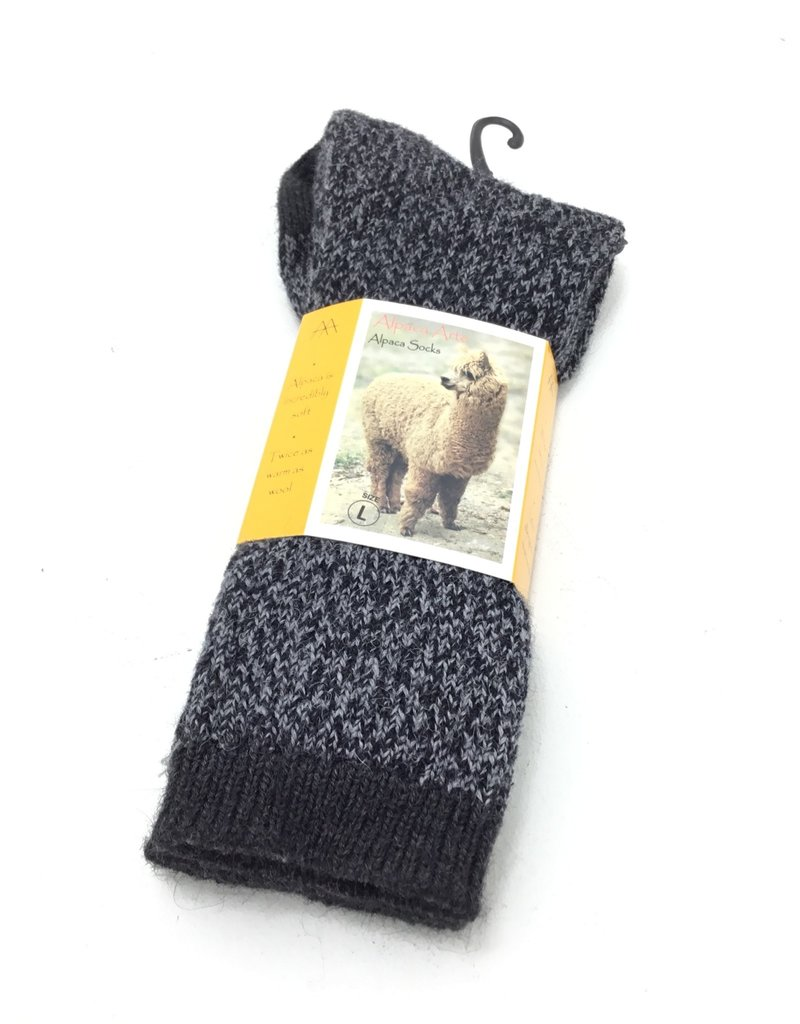 CHARCOAL BLACK TWIST SOCK LARGE