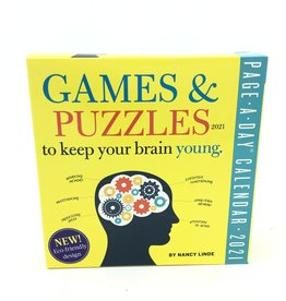 GAMES AND PUZZLES TO KEEP YOUR BRAIN YOUNG CALENDAR