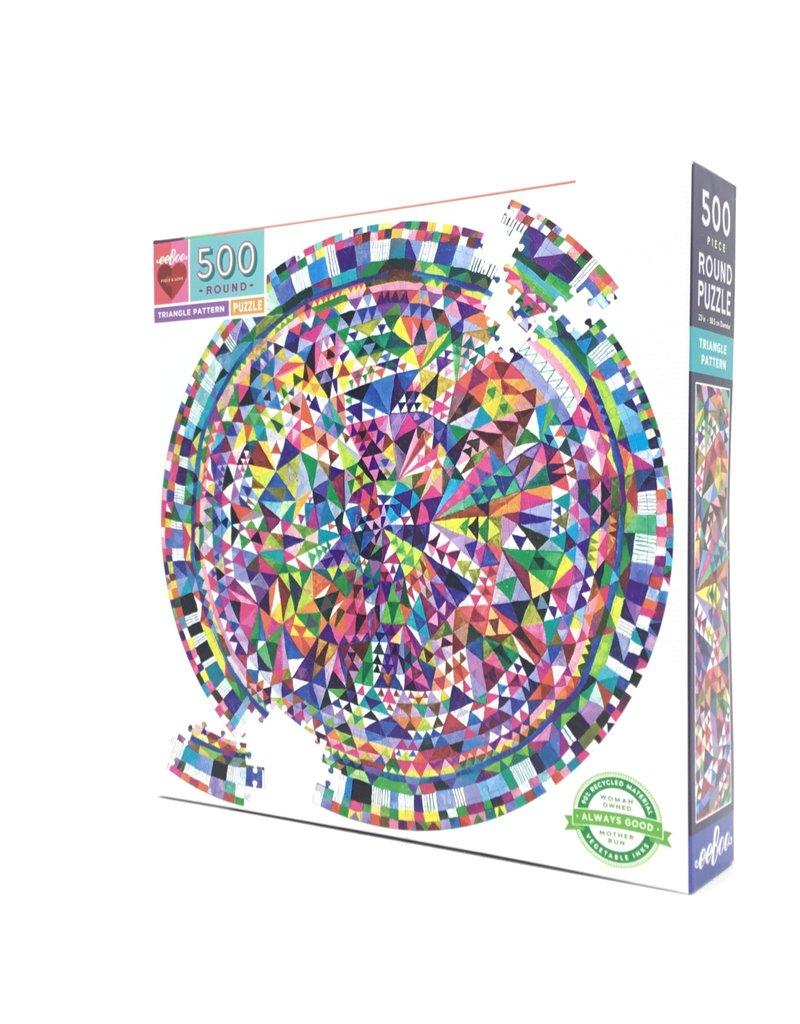 TRIANGLE PATTERN 500 PIECE ROUND PUZZLE