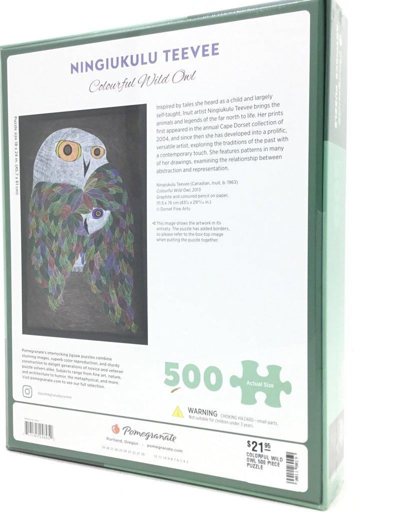 COLORFUL WILD OWL 500 PIECE PUZZLE