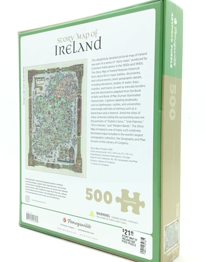 STORY MAP OF IRELAND 500 PIECE PUZZLE