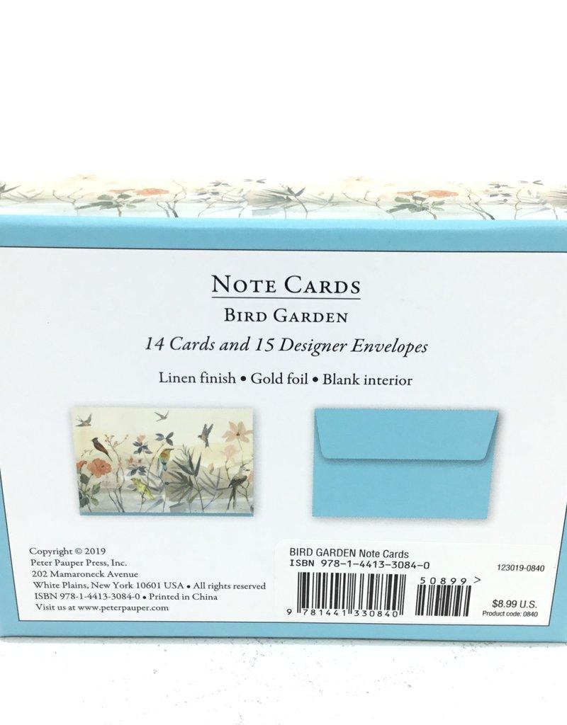 BIRD GARDEN NOTE CARDS