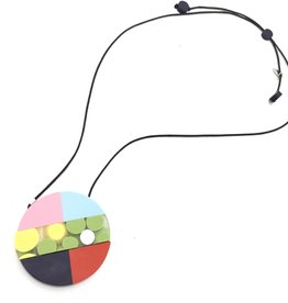COLORFUL POLKA DOT NECKLACE