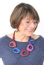 SHADES OF PURPLE ROSLYN NECKLACE