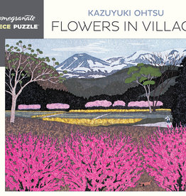 KAZUYUKI OHTSU FLOWERS IN VILLAGE  500 PIECE PUZZLE