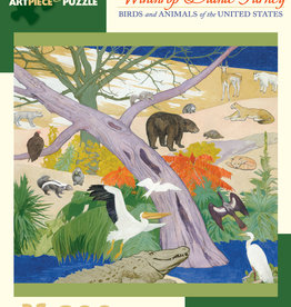 BIRDS AND ANIMALS OF THE US 300 PIECE PUZZLE