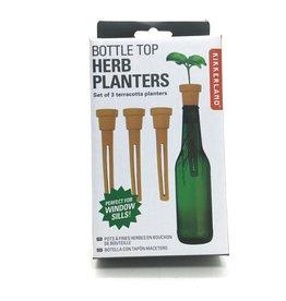 BOTTLE TOP HERB PLANTER