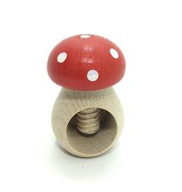 RED MUSHROOM NUTCRACKER