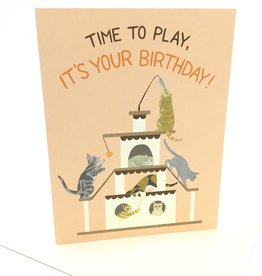 YEPPIE PAPER PLAYFUL CATS BIRTHDAY CC