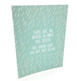 APARTMENT 2 CARDS FALLING RAIN SYMPATHY CARD