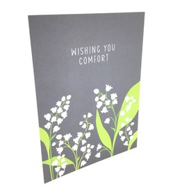 APARTMENT 2 CARDS LILY OF THE VALLEY SYMPATHY CARD