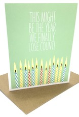 APARTMENT 2 CARDS LOST COUNT BIRTHDAY CARD