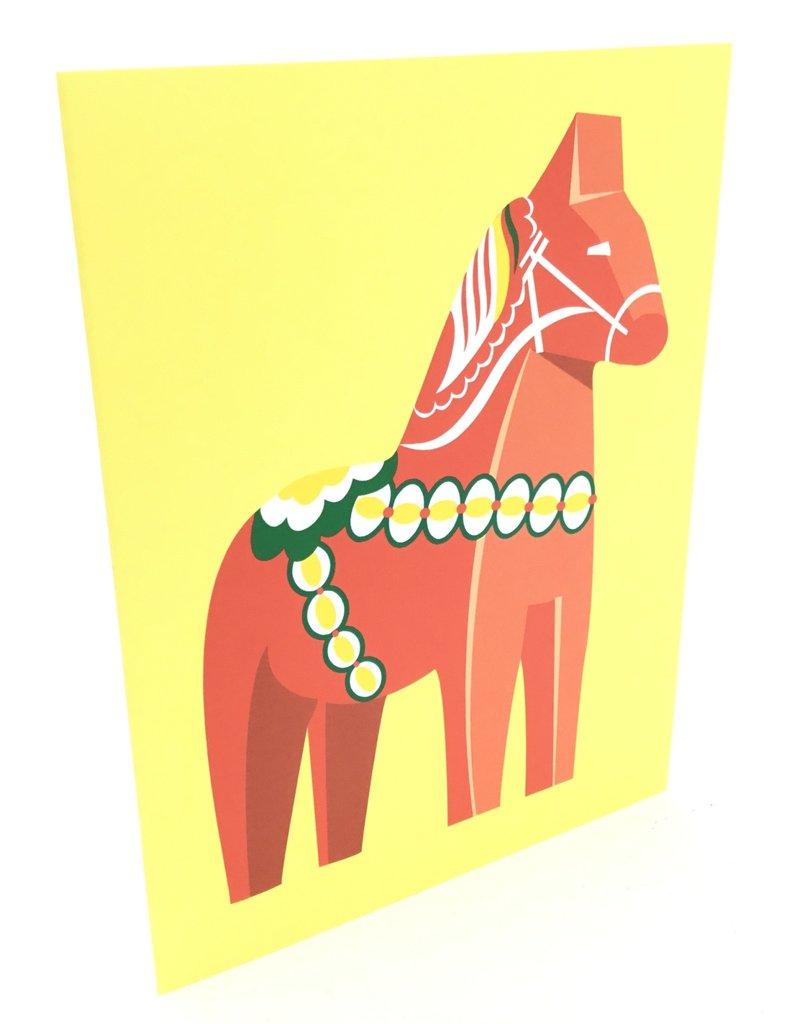 CINDY LINDGREN RED DALA HORSE CARD