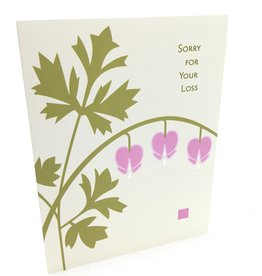 CINDY LINDGREN BLEEDING HEART SYMPATHY CARD