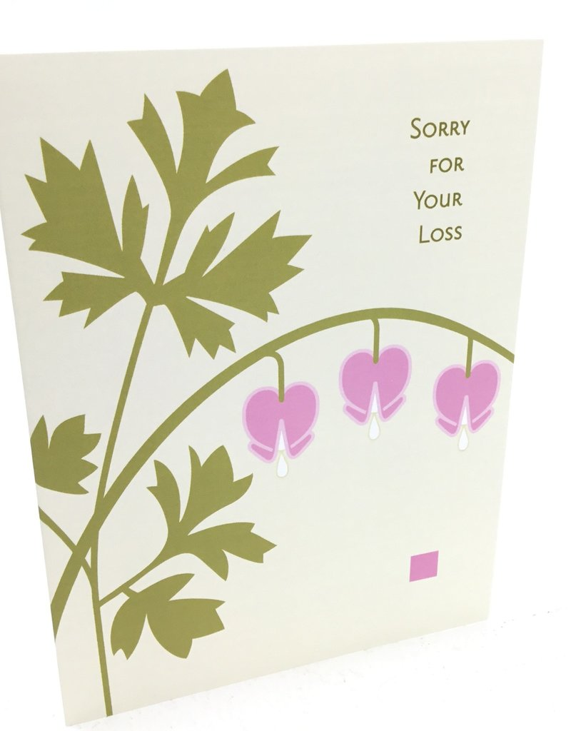 CINDY LINDGREN BLEEDING HEART SYMPATHY CARD
