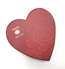 ASST CHOCOLATE EMBOSSED HEART BOX
