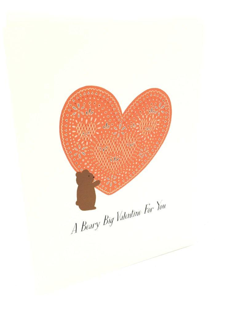 PAULA & WAFFLE BEARY BIG VALENTINE'S DAY CARD