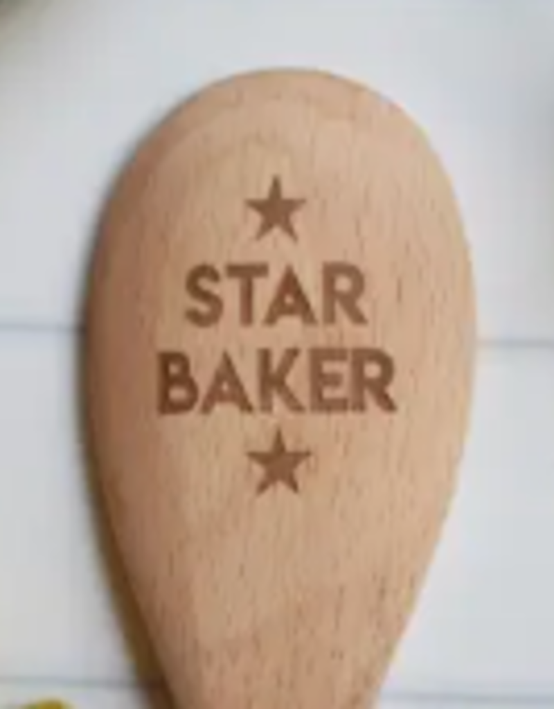 NORTH TO SOUTH DESIGNS STAR BAKER WOOD SPOON
