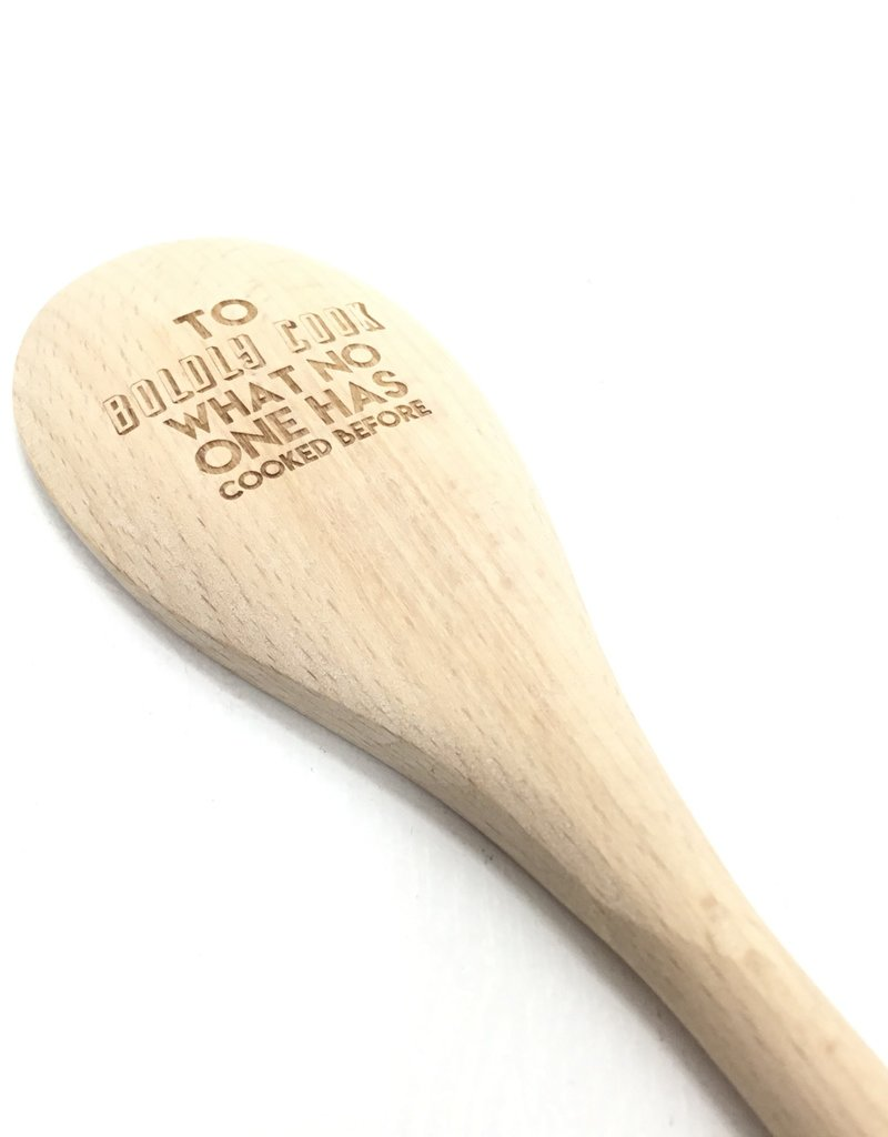 NORTH TO SOUTH DESIGNS TO BOLDLY COOK WOOD SPOON