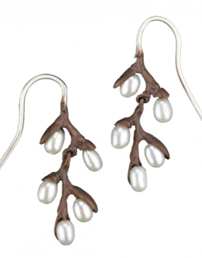 PUSSY WILLOW LONG DROP EARRINGS