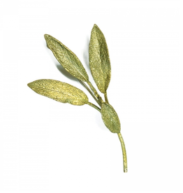 SAGE LEAF BROOCH