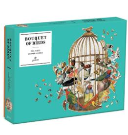 BOUQUET OF BIRDS SHAPED PUZZLE 750 PC PUZZLE