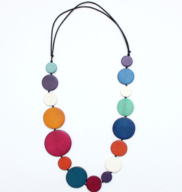 COLORFUL WOODEN REGINA NECKLACE