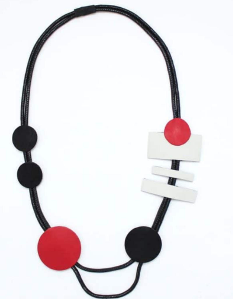 RED BLACK LUCIANA NECKLACE