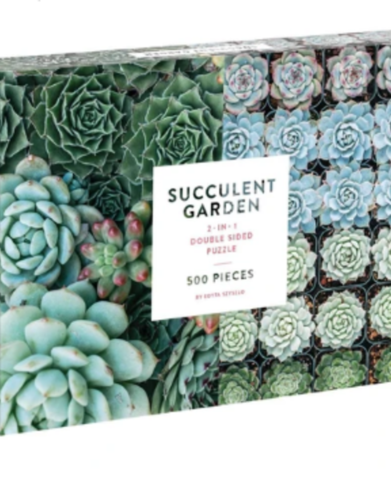 SUCCULENT GARDEN TWO SIDED 500 PC PUZZLE
